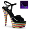 DELIGHT-609RBS Black/Neon Multi Crystals